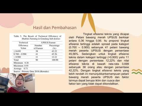 UAS EPP-Technical Eficiency
