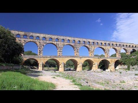 Pont du Gard - ancient Roman aqueduct, Provence, France [HD] (videoturysta)