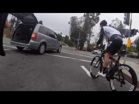 Tyler Farrar and I sprinting to catch Mark Cavendish