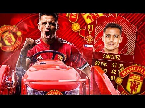 OMG MANCHEZTER ALEXIS?! THE MANCHESTER UNITED SANCHEZ TRANSFER SQUAD! FIFA 18 ULTIMATE TEAM