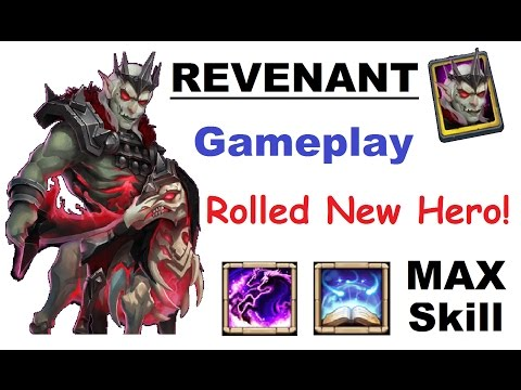 MAXED Skill REVENANT GAMEPLAY! New Update Hero Review Talent Rolls Castle Clash