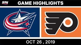 NHL Highlights   Blue Jackets vs. Flyers – Oct. 26, 2019