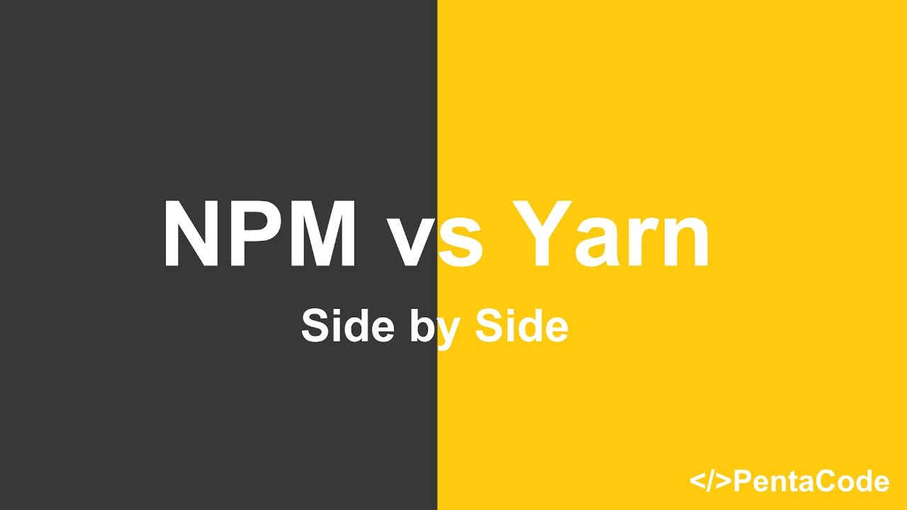 difference between yarn and npm