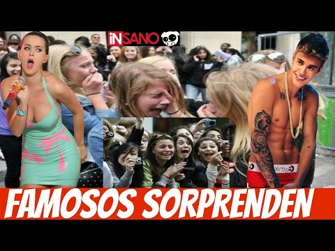 FAMOSOS SORPRENDEN A SUS FANS CELEBRITIES SURPRISE FANS (RECOPILACION)