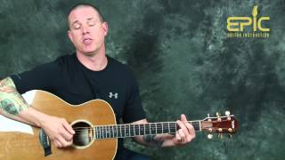 Learn to play Alan Jackson Gone Country easy acoustic guitar song lesson with chords and melody