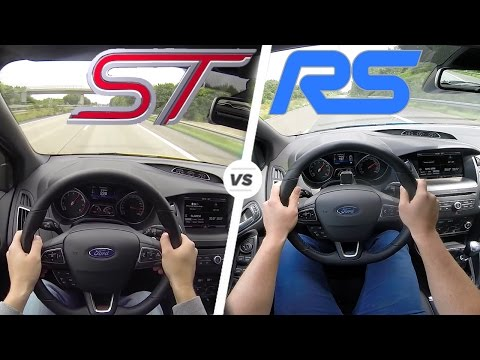 Ford Focus RS vs Focus ST ACCELERATION & TOP SPEED AutoBahn POV Drive
