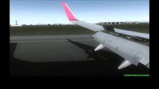 FS2004 FS9  iFly 737 Austrian Landing At LIMC HD