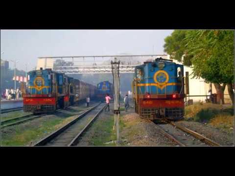 INDIAN RAILWAYS : Metre Gauge Locomotive YDM4 Coupling Before Mindblowing Race