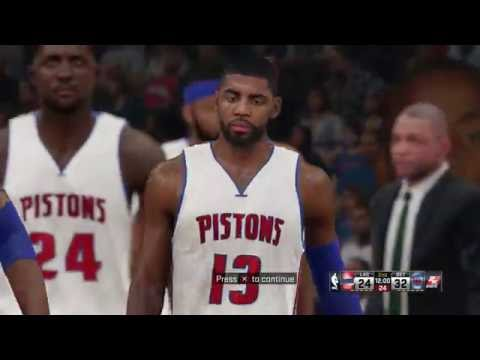 NBA 2K15 PS4 Detroit Pistons vs Los Angeles Clippers Season 2020-2021