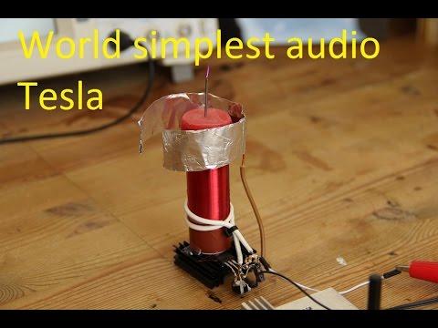 Einfachste Musik Teslaspule / World Simplest Music Tesla