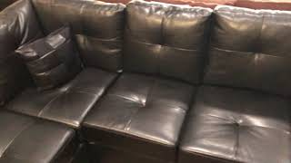 Darie 500606 Black Sectional Sofa With Chaise Wyckes Furniture