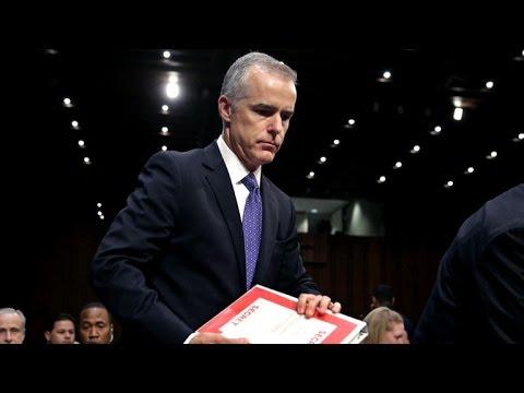 What happened during Andrew McCabe's testimony at Senate Intelligence hearing?
