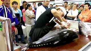 Maguro Cutting (Kansai Fair 2013) @ isetan Thailand