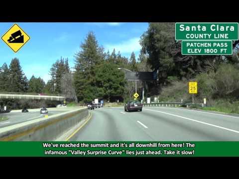 California 17 North from Santa Cruz to San Jose