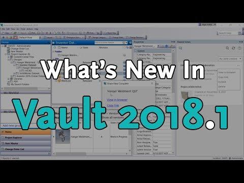 Vault 2018.1 - Whats New | Autodesk Virtual Academy