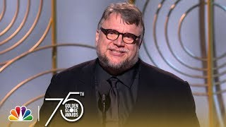 Guillermo del Toro accepts the award for Best Director at the 75th Annual Golden Globe Awards. » Subscribe for More: http://bit.ly/NBCSub » Stream Your ...