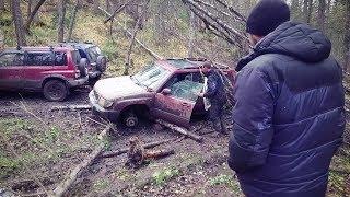 УАЗ Патриот, УАЗ 469, Suzuki, Pajero, Subaru forester. Тест-драйв авто-ведер на легком бездорожье