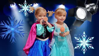 TWO YEAR OLDS TAKE THE FROZEN SPOTLIGHT