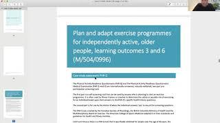 Level 3 Independent Older Adult Qualification Outlined