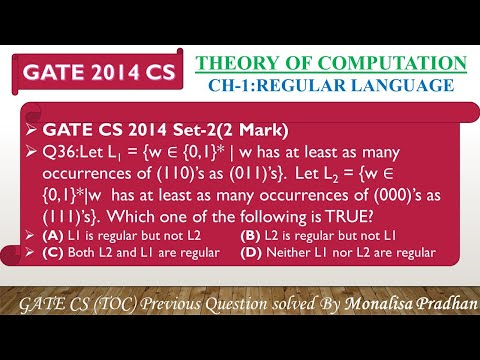 GATE CS 2014 Set-2,Q36:Let L1 ={w∈{0,1}* |w Has At Least As Many Occurrences Of (110)'s As (011)'s}.