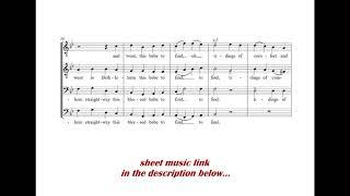 God rest you merry Gentlemen (Trad. Christmas carol) - TTBB Male choir arrangement  + SHEET MUSIC!