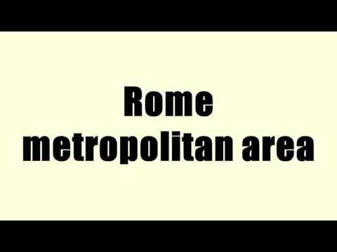 Rome metropolitan area