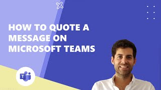 How to quote a meṡsage on Microsoft Teams