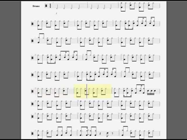 Drum drum tabs for back in black : Drum : drum tabs for enter sandman Drum Tabs For along with Drum ...