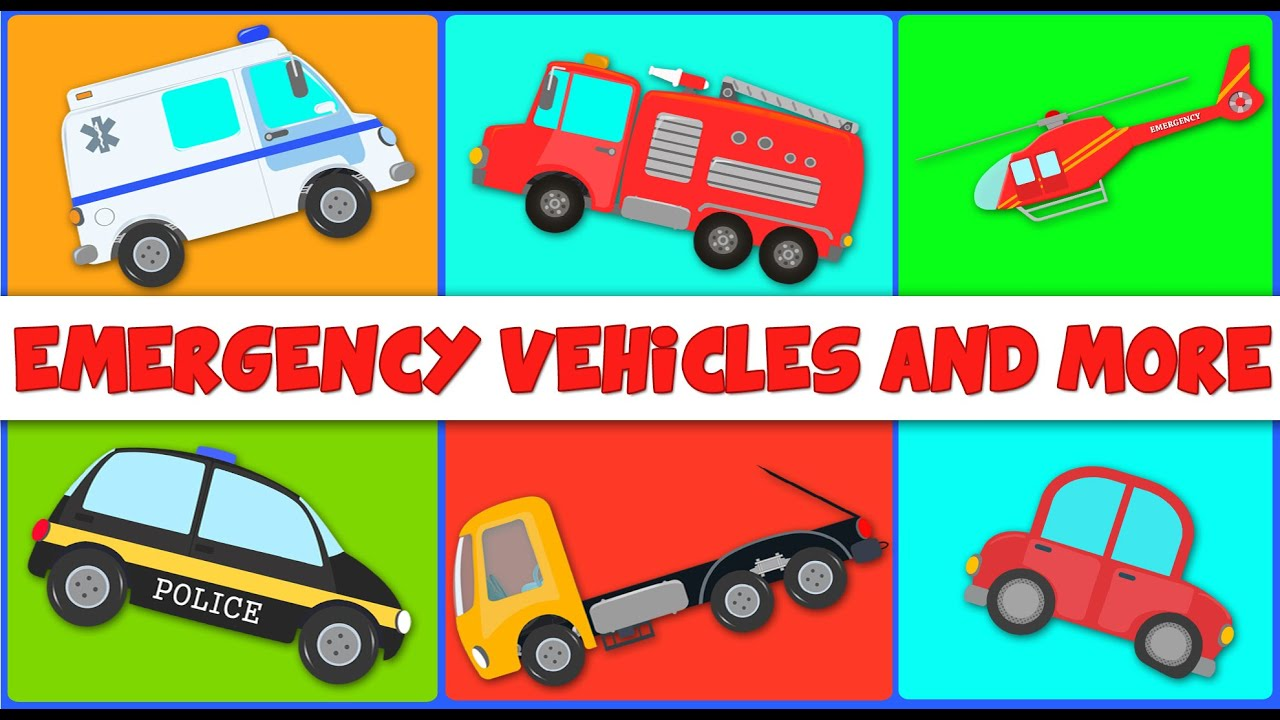 Emergency Vehicles And More Kids Videos By Umi Uzi Youtube