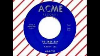Nancy Lee with the Tempo Tones - So They Say (ACME 711) doo wop