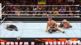 WWE John Cena vs Randy Orton Royal Rumble 2014 Highlights HD