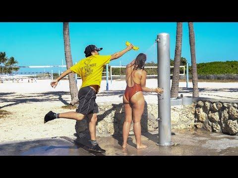 Shampoo Prank in Miami Beach!