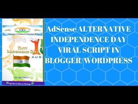 Adsense Alternative Independence Day Viral Script In Blogger
