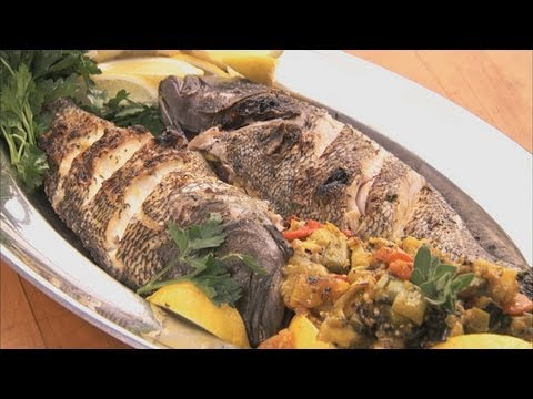 Whole Grilled Sea Bass HD - YouTube