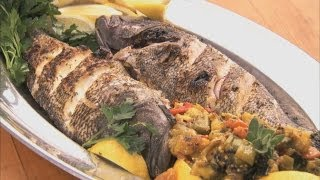 Whole Grilled Sea Bass HD