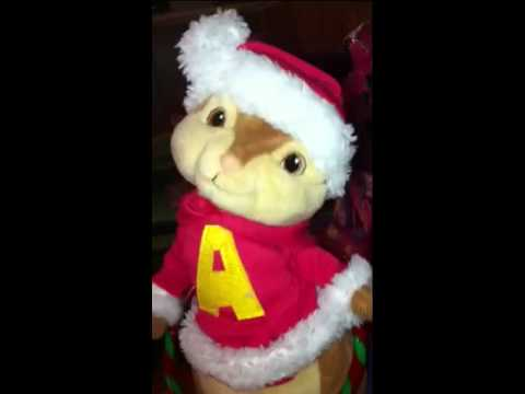 Creepy Alvin toy singing Christmas song
