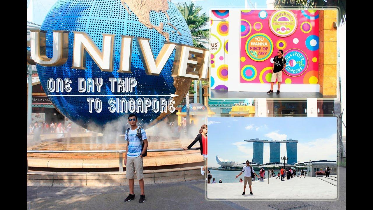 VLOG#02 One Day Trip, Backpacker ke Singapore - Marina Bay, Sentosa on