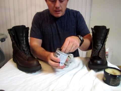 Huberd&39s Shoe Grease vs Obenauf&39s Heavy Duty LP Danner 2 - YouTube