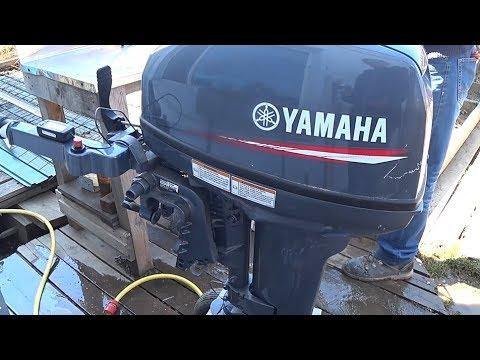 Муж испортил мотор / Yamaha 9.9 / запуск после зимы