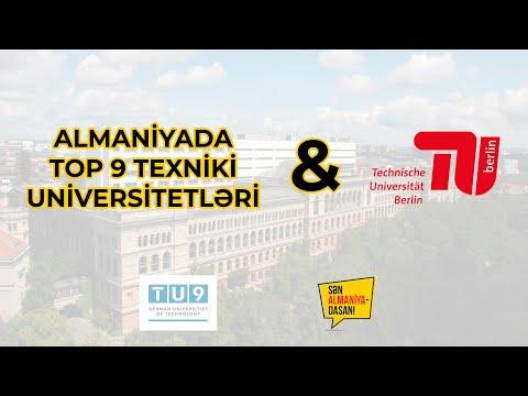 Almaniyada TOP-9 Texniki Universitetlər & TU Berlin
