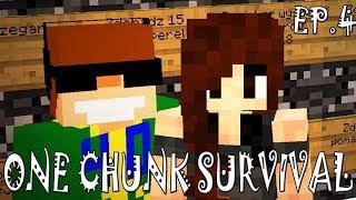 NIERÓWNA WALKA! | One chunk survival ep. 4 | Minecraft survival map 1.12.2
