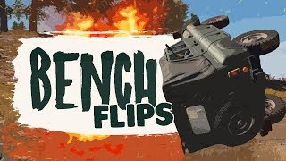 BENCH FLIPS - Battlegrounds (Funny Moments)