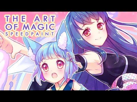 The Art of Magic [Paint Tool SAI] Speedpaint