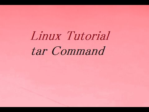 tar Command in Unix / Linux