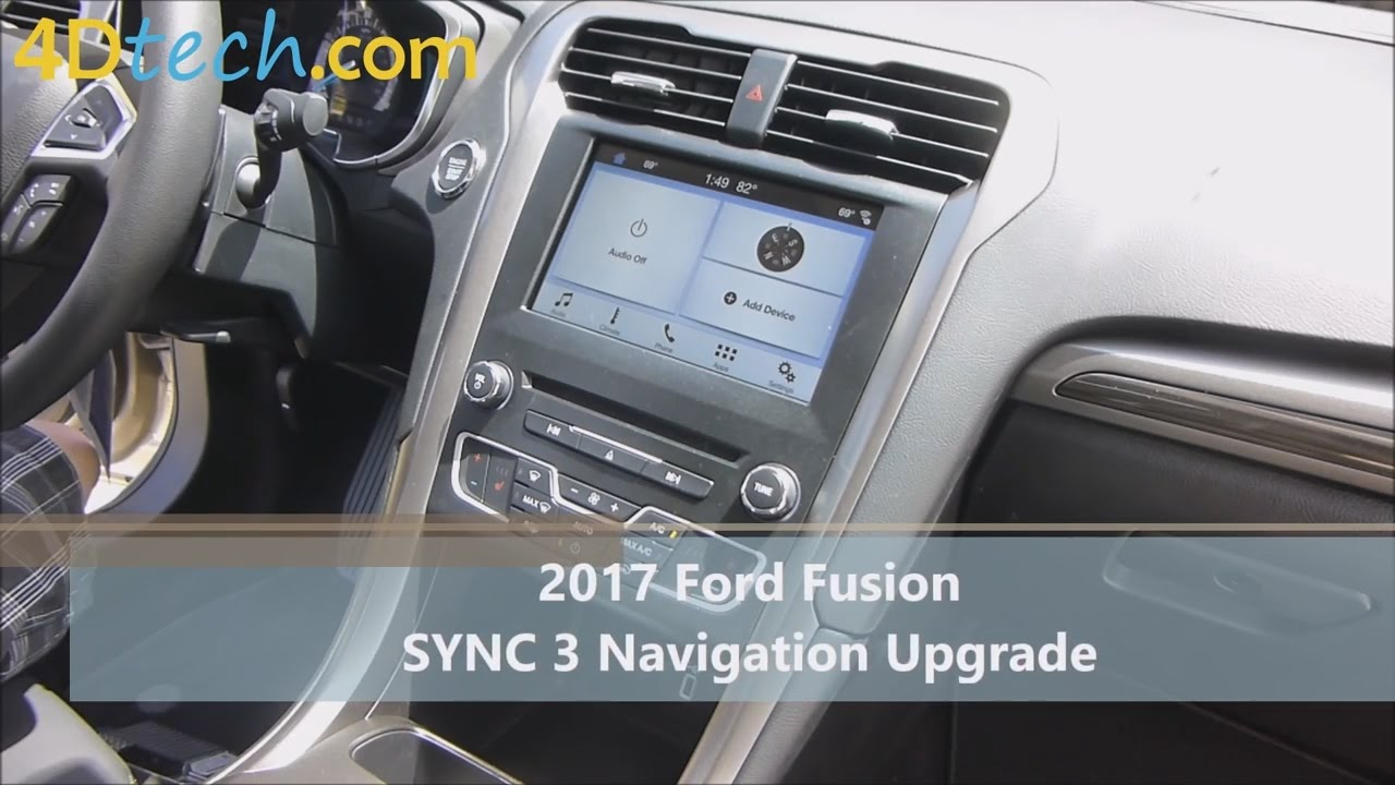 Add Factory Navigation To Sync 3 2017 Ford Fusion Youtube 2007 Radio Display