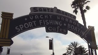 3D travel to Santa Monica beach - USA