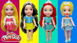 Play Doh Disney Little Princesses Aurora,Cinderella, Ariel & Snow White Inspired Costumes