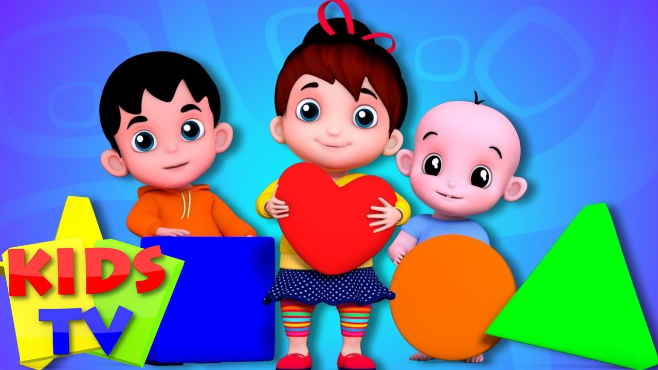 Junior Squad Kids Nursery Rhymes Shapes Song Learn