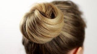 Как сделать прическу пучок узлом. Beam Hairstyle As Node(Подписывайтесь на мой канал http://www.youtube.com/user/4OXYGENE Прическа