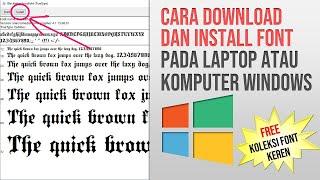 Cara Download Font Free untuk di Instal pada Komputer Laptop Windows